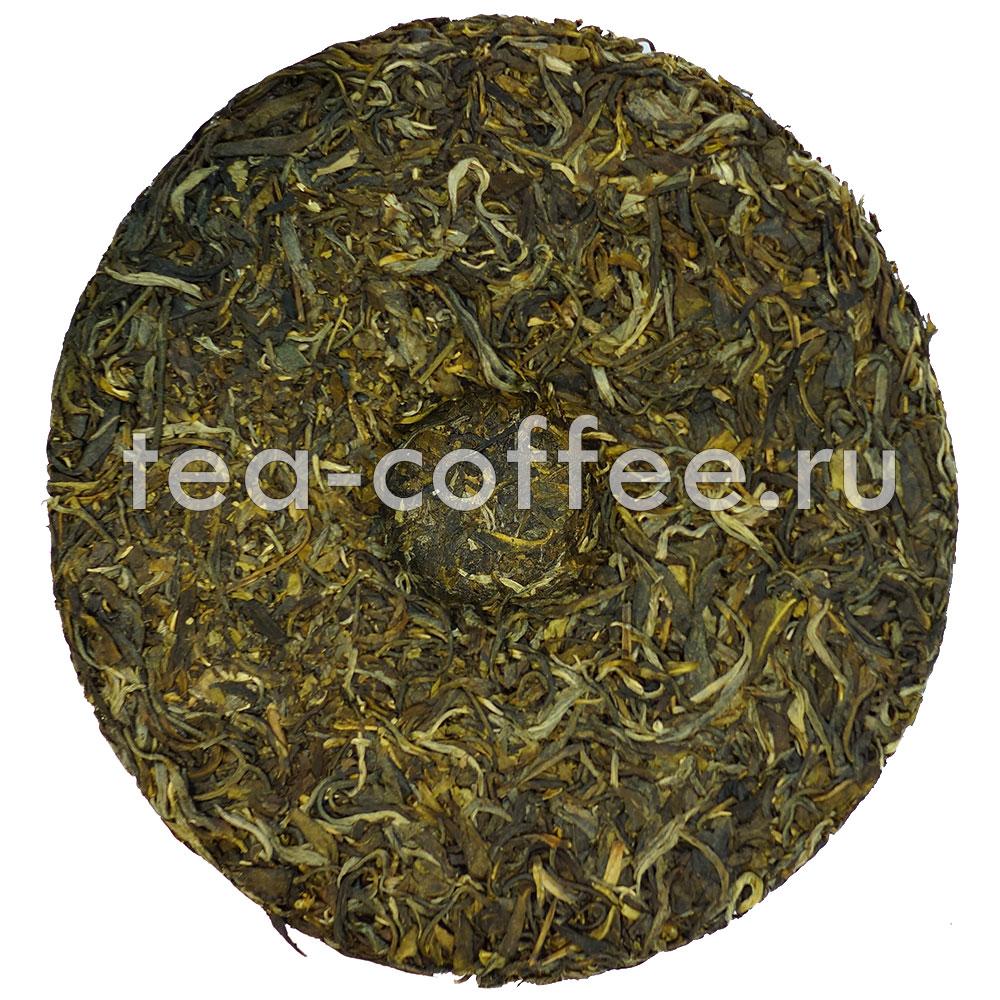 Чай Пуэр Чайные мысли блин 375г (шен)