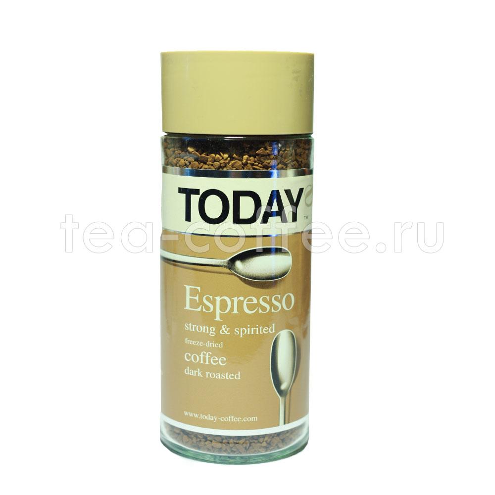 Купить кофе Today растворимый Espresso 95 гр (ст.б.) Тудей ...