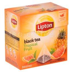 Чай Lipton Tropical Fruit фруктовый (20 пирамидок)