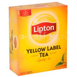 Чай Lipton Yellow Label черный (100 пакетиков)