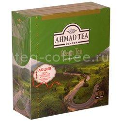 Чай Ahmad Tea Green Tea. Ахмад Зеленый чай в пакетиках Россия
