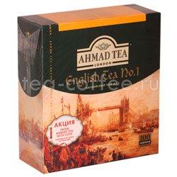Чай Ahmad Пакет Английский №1. Черный, 2гр100 шт