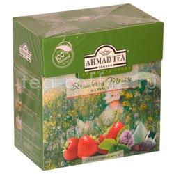 Чай Ahmad Tea в пирамидках Strawberry Mousse. Ахмад Клубничный мусс Россия