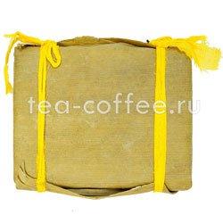 Пуэр плитка в бамбуковом листе №1 250г (шу)