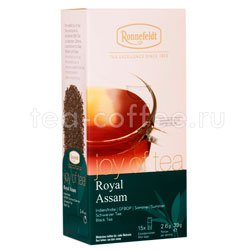 Чай Ronnefeldt Joy of tea Royal Assam черный кат. GFBOP в саше на чашку 15 шт