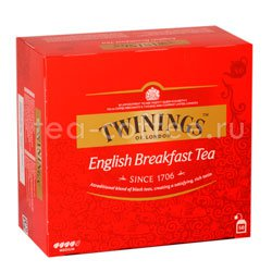 Чай Twinings English Breakfast чернй в пакетиках 50 шт