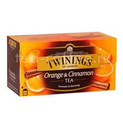 Чай Twinings Черный Апельсин и Корица (25 пакетиков)