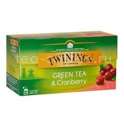 Чай Twinings Зеленый Клюква (25 пакетиков) Великобритания
