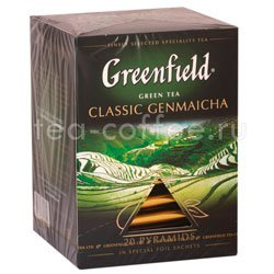 Чай Greenfield Classic Genmaicha Пирамидки Россия