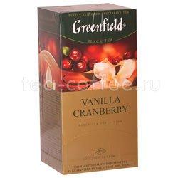 Чай Greenfield Vanilla Cranberry Пакетики Россия
