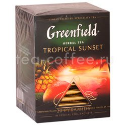 Чай Greenfield Tropical Sunset травяной в пирамидках 20 шт