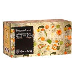 Чай Gutenberg Зеленый Освежающий в пакетиках 25 шт х 2 гр Германия