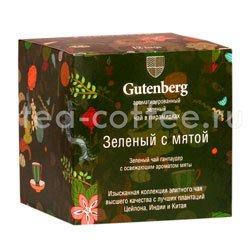 Gutenberg Зеленый с мятой в пирамидках 12 шт Германия