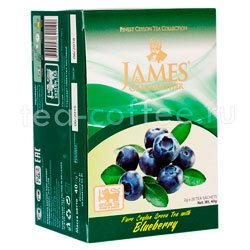 Чай James Grandfather Blueberry зеленый в пакетиках