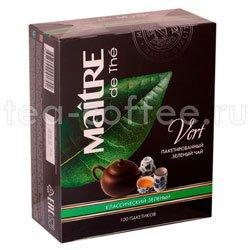 Чай Maitre Vert 100 пак Франция