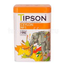 Чай Tipson Цейлонский №1 85 гр ж.б. Шри Ланка