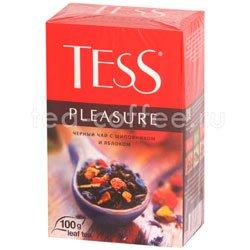 Чай Tess черный Pleasure (Шиповник и яблоко) 100 гр