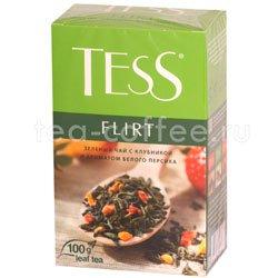 Чай Tess зеленый Flirt (Клубника и ароматом белого персика) 100 гр Россия
