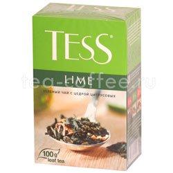 Чай Tess зеленый Lime (Цедра цитрусовая) 100 гр