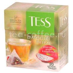Чай Tess зеленый Daiquiri Breeze (Имбирь и фрукты дракона) пирамидки 20 пак. Россия