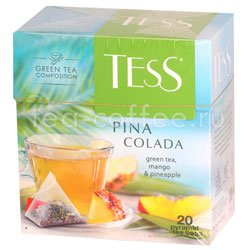 Чай Tess зеленый Pina Colada (Манго и ананас) пирамидки 20 пак. Россия