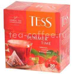 Чай Tess Summer Time (Гибискус, шиповник и клубника) пирамидки 20 пак.