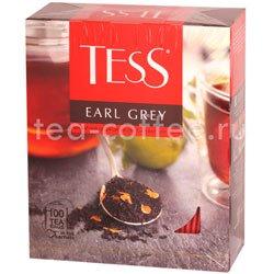 Чай Tess черный Earl Grey (Цедра цитрусовая и аромат бергамота) 100 пак.