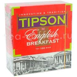 Чай Tipson English Breakfast (100 пакетиков по 2 гр) Россия