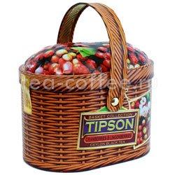 Чай Tipson Basket Cranberries & Lingon berries 100 гр/Лукошко Клюква и брусника 100 гр Шри Ланка