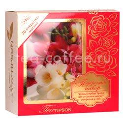Tipson подарочный чайный набор N 1 3D открытка-магнит, салфетка и чай, розовый Шри Ланка