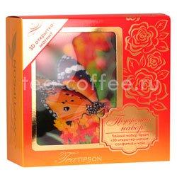 Tipson подарочный чайный набор N 1 3D открытка-магнит, салфетка и чай, красный Шри Ланка