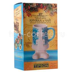 Tipson подарочный чайный набор Чай и кружка керамическая Снегурочка Люкс 3.2 Шри Ланка
