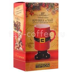 Tipson подарочный чайный набор Чай и кружка керамическая Дед Мороз Люкс 3.1 Шри Ланка