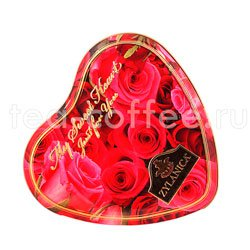 Чай Zylanica Red Roses Сердце Super Pekoe черный с лепестками роз 100 г ж.б.