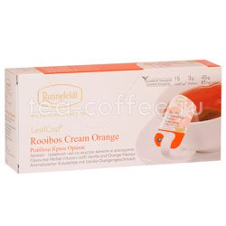 Чай Ronnefeldt Rooibus Cream Orange/Ройбуш Крем Оранж в сашете на чашку (Leaf Cup)