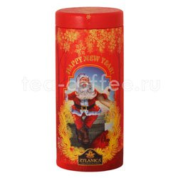 Чай Zylanica Happy New Year Santa Claus черный кат. OPA 100г ж.б. Шри Ланка