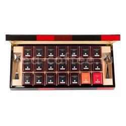 Подарочный чайный набор Dammann Bayadere (21 баночка чая по 15, 25 и 30 гр + 2 ситечка)
