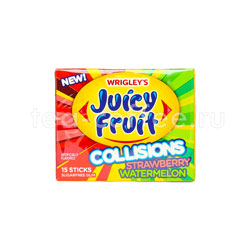 Жевательная резинка Wrigleys Juicy Fruit Collsions Strawberry Watermelon