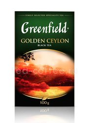 Чай Greenfield Golden Ceylon черный 100 г Россия