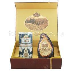 Набор Чайный подарок золотой (Остров Спешл-Фолк Индиго)