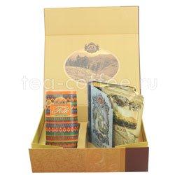 Набор Чайный подарок золотой (Книга т1+Фолк Радуга)