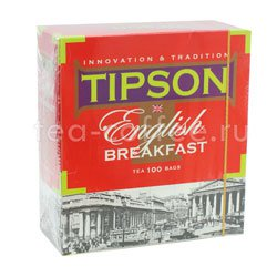 Чай Tipson English Breakfast (100 пакетиков по 2 гр)