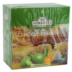 Чай Ahmad Tea в пирамидках Key Lime Pie. Ахмад Лаймовый пирог