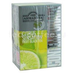 Чай Ahmad Tea Citrus Senstaion. Ахмад Цитрус сенсейшн в пакетиках