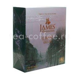 Чай James Grandfather Greentea DCS&T. Зеленый, пакет. 100 шт