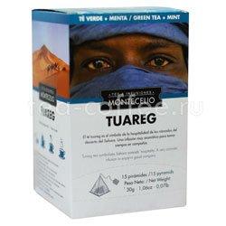 Чай Montecelio в пирамидках Tuareg 15 шт по 2 гр
