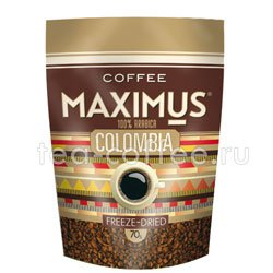 Кофе Maximus Растворимый Colombia 70 гр (Мягкая упаковка)
