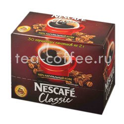 Кофе Nescafe растворимый Classic 40 (30 x2 гр)