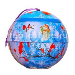 Новогодний металлический шар тропическая мечта