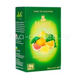 Чай James Grandfather зеленый с цитрусом 100 гр